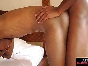 Uncut Nubian twink bareback fucking amateur