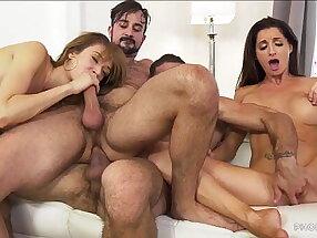 Having friends over is life! - Zoe Sparx, Silvia Saige, Ricky Larkin, Mason Lear