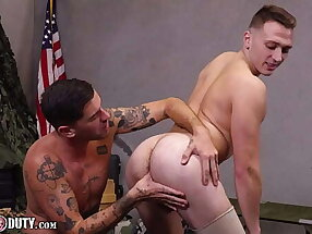 Enlistee Justin Lewis Bareback Fucked By Chris Damned - ActiveDuty