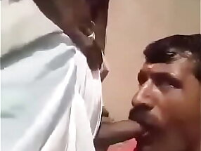 Moustached Uncle sucking big cock of an Old man