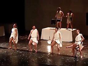 Men dancing with their penis