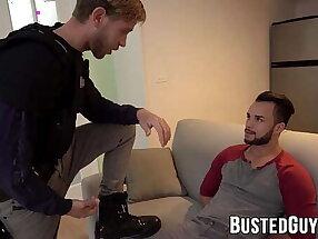 Blonde policeman doggystyle hard banging tied up Javier Cruz